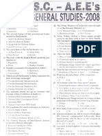 TSPSC General Studies and General Ability Old Question Paper