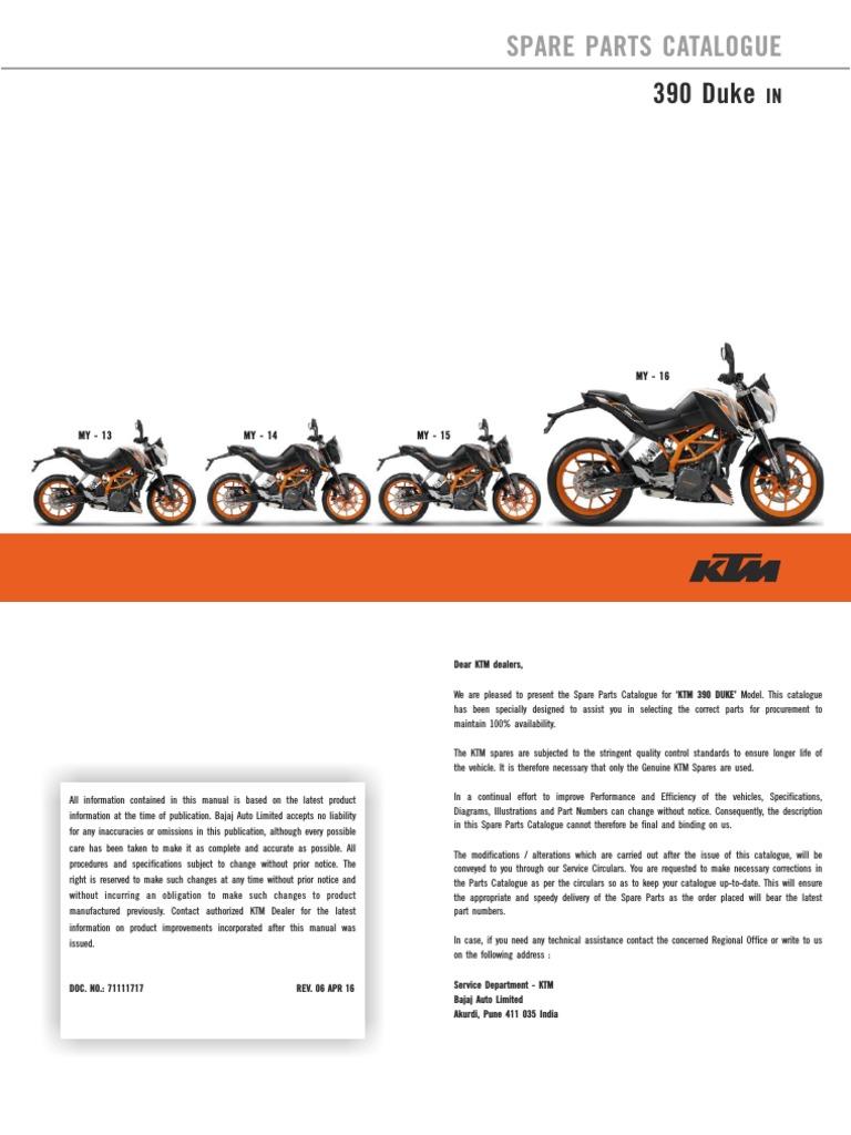 Ktm Rc 200 Spare Parts Catalogue Pdf India