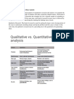 Qualitative vs Quantitative Data Analysis