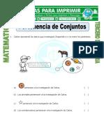 Ficha Pertenencia de Conjuntos Para Tercero de Primaria