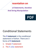 Chapter-4 Conditional and Iterative Statements in Python