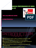 A Study on Financial Performance of Amul(Project)