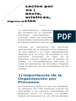 Organizacion Por Procesos _ Importancia, Características, Aplicación _ CONDUCE TU EMPRESA