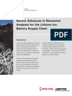 White Paper Elemental Analysis for Lithium Ion Battery
