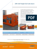 OEG Offshore - 20ft Half Height (Full Side Door) - Datasheet