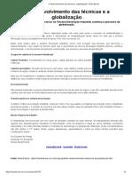 2 O Desenvolvimento Das Técnicas e a Globalização