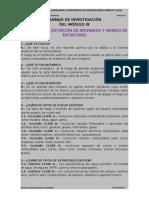 TRABAJO DE INVESTIGACIÓN  DEL MÓDULO IX  PREVENCIÓN Y EXTINCIÓN DE INCENDIOS Y MANEJO DE EXTINTORES