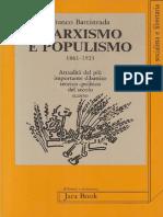Battistrada, Franco. - Marxismo e Populismo 1861-1921 [1982] [2018]