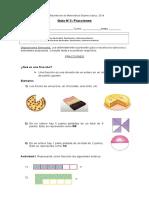 Guía 2 Matemática Fracciones