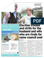 Husband and wife compete for council seat