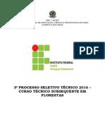 PPC - Curso Técnico Em Florestas - IfPA - Subsequente