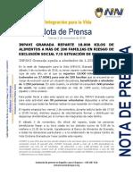 Nota Reparto Alimentos Inpavi Granada