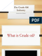 The Crude Oil Industry