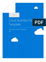 Cloud Business Plan Template 1