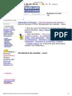 Francais vocabulaire