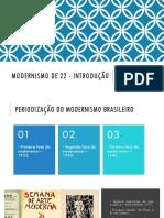 Modernismo de 22 - Introdução