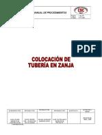 P-pt-001. Colocación de Tubería en Zanja.rev01.07.05.08