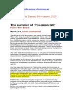 "The Summer of 'Pokemon GO' Franco ""Bifo"" Berardi"