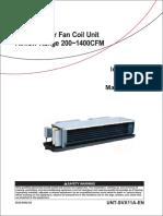 HFCF - IOM (inglés) fan coil unit TRANE installation