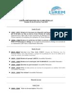 Agenda, Semaine 18