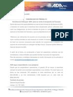 Comunicado de Prensa #5 - ADA