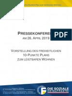 Freiheitlicher Zehn-Punkte-Plan Zum leistbaren Wohnen