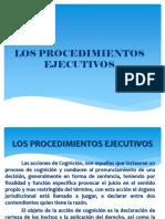 PROCESAL CIVIL III Tema 11 Los Procedimientos Ejecutivos