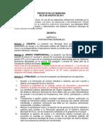 Proyecto de Ley Municipal Comentada