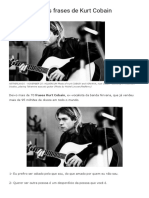 Frases do Kurt Cobain ... 71 delas! CONFIRA!