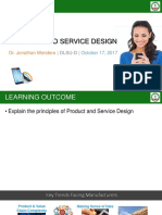 3 - Product and Service Design