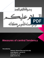 measure og central tencey