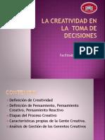 La Creatividad en La Toma de Decisiones LAMINAS