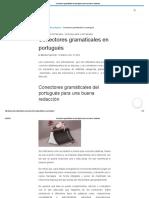 Conectores Gramáticales Del Portugués Para Una Buena Redacción