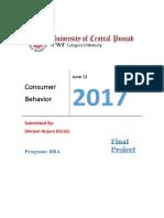 Consumer Behavior (SHIRJEEL ANJUM)