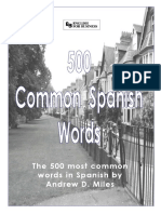 500 Common Words Spanish to English