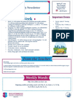 weekly newsletter april 29th