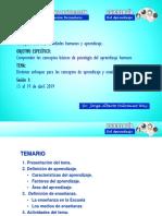 Clase 1 Distintos Enfoques Para Los Conceptos de Aprendizaje y Enseñanza- Secundaria