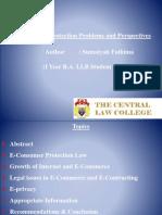 E-Consumer Protection Presentation