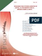 Fiscoactualidades Abril Núm 42 Aportaciones Futuros Aumentos de Capital