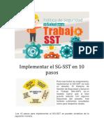 Implementar GS SST 10 Pasos