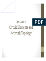 Lecture 3 -Circuit Elements and Network Topology
