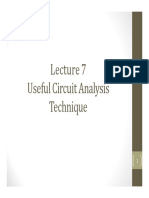 Lecture 7 - Useful Circuit Analysis Technique -I