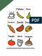 Frutas Comidas Profesiones Animales