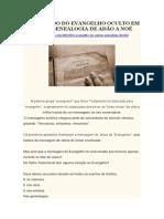 Significado Do Evangelho Oculto Em Gênesis - Genealogia de Adão