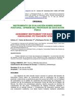 Instrumento de Evaluacion Sobre Higiene Postural
