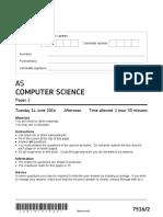 AQA Computer Science QP June 2016 - AQA-75162-QP-JUN16