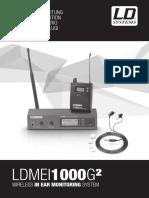 LDMEI1000G2 LD Systems Bedienungsanleitung en de FR ES PL IT