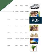 25 Verbos en Plural y Singular
