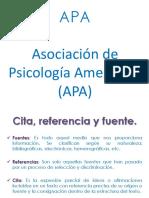 Citas y Fuentes _ Consideraciones APA