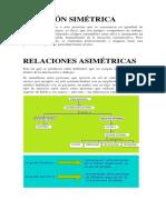 Relación Simétrica Asimetrica